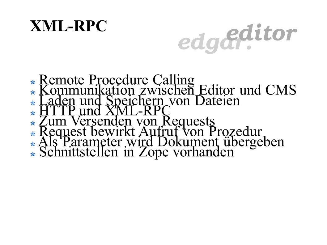 Metadaten und Edgar Daten über das Dokument Bestimmung der Zielgruppe Links und Anker Daten über Textstellen als Hinweise Author Erscheinungsdatum Rec