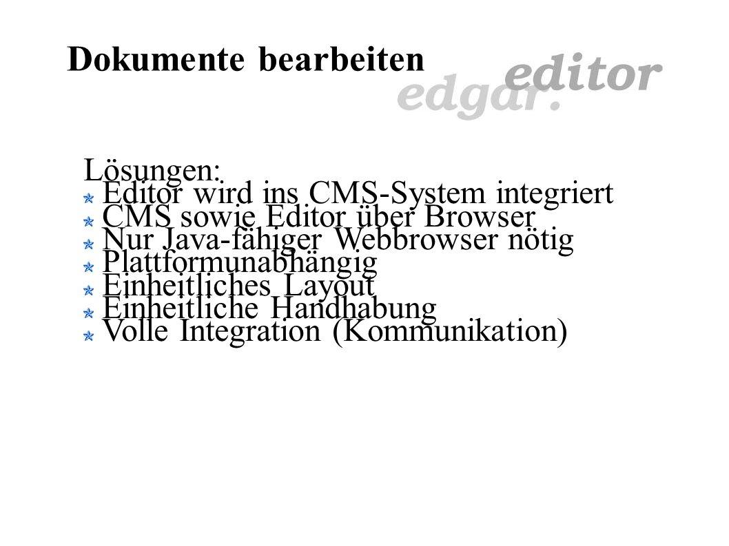 CMS Dokumente bearbeiten Request Response