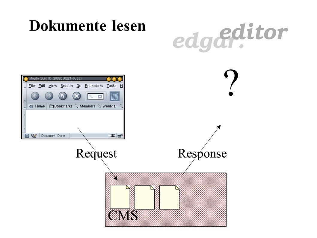 Dokumente bearbeiten Lösungen: Editor wird ins CMS-System integriert CMS sowie Editor über Browser Nur Java-fähiger Webbrowser nötig Plattformunabhängig Einheitliches Layout Einheitliche Handhabung Volle Integration (Kommunikation)