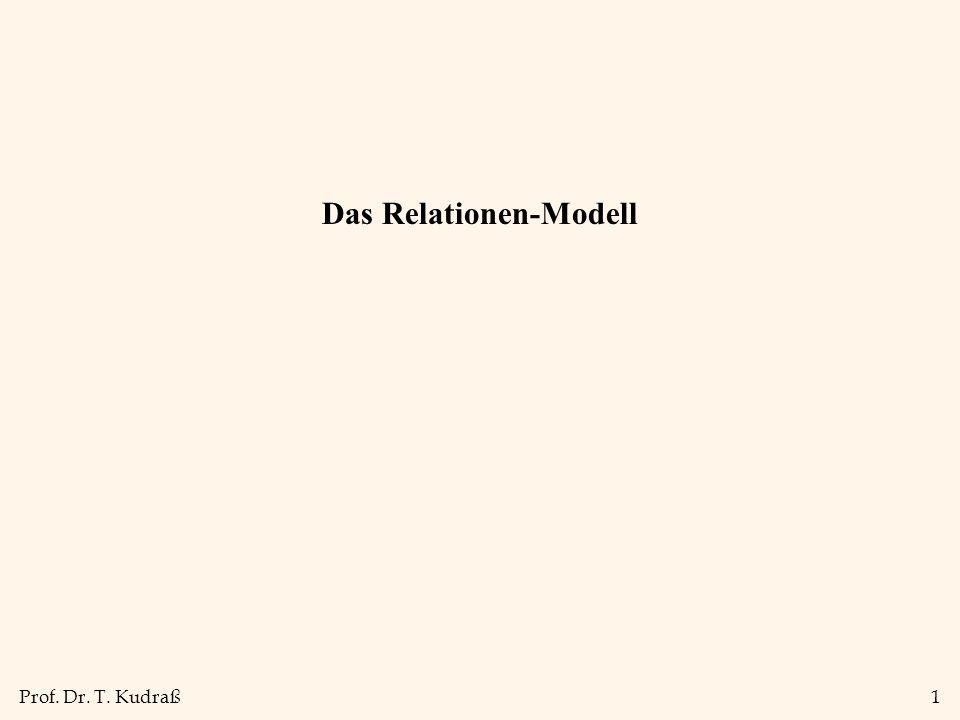 Prof. Dr. T. Kudraß1 Das Relationen-Modell