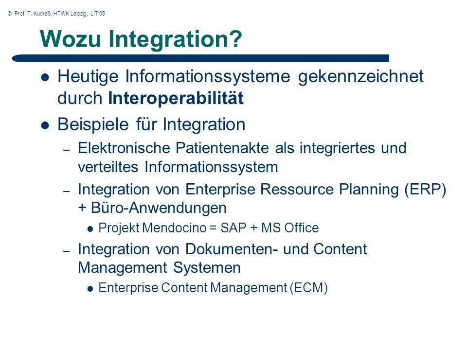 © Prof. T. Kudraß, HTWK Leipzig, LIT05 Wozu Integration.