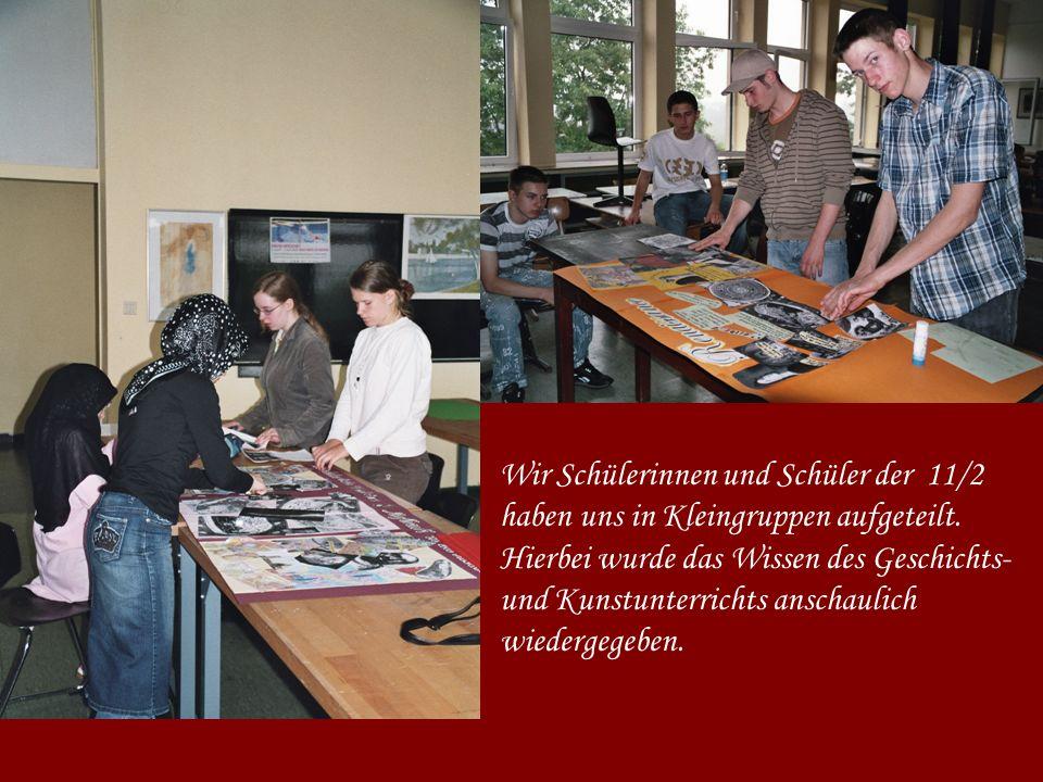 Die Aufgabe der Gruppen war eine Collage zum Thema,,Renaissance in der Größe von drei Photokartons.