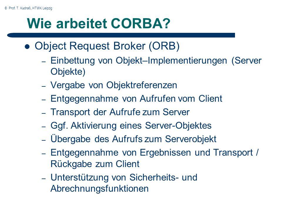 © Prof.T. Kudraß, HTWK Leipzig Wie arbeitet CORBA.