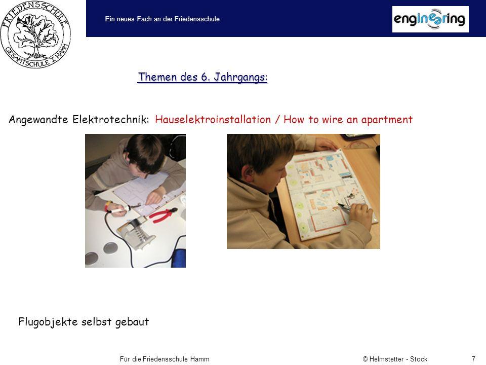 Ein neues Fach an der Friedensschule Für die Friedensschule Hamm © Helmstetter - Stock7 Themen des 6.