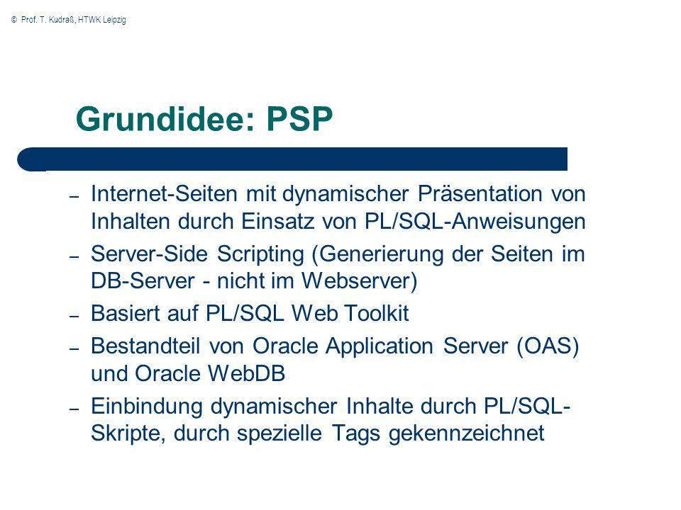 © Prof. T. Kudraß, HTWK Leipzig Einordnung in Oracle Application Server