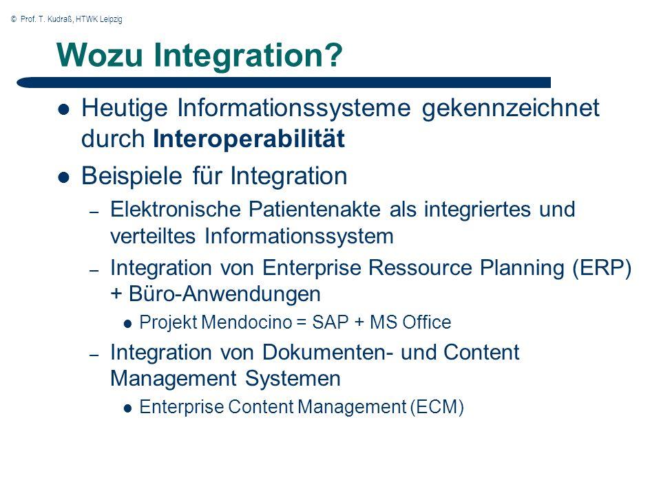 © Prof. T. Kudraß, HTWK Leipzig Wozu Integration.