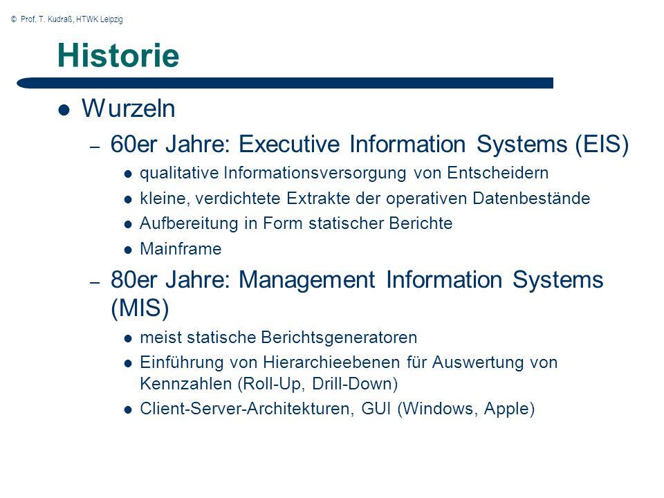 © Prof.T. Kudraß, HTWK Leipzig Phasen des Data Warehousing Phasen 1.