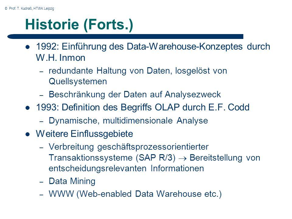 © Prof.T. Kudraß, HTWK Leipzig Was ist OLAP. OLAP ist......