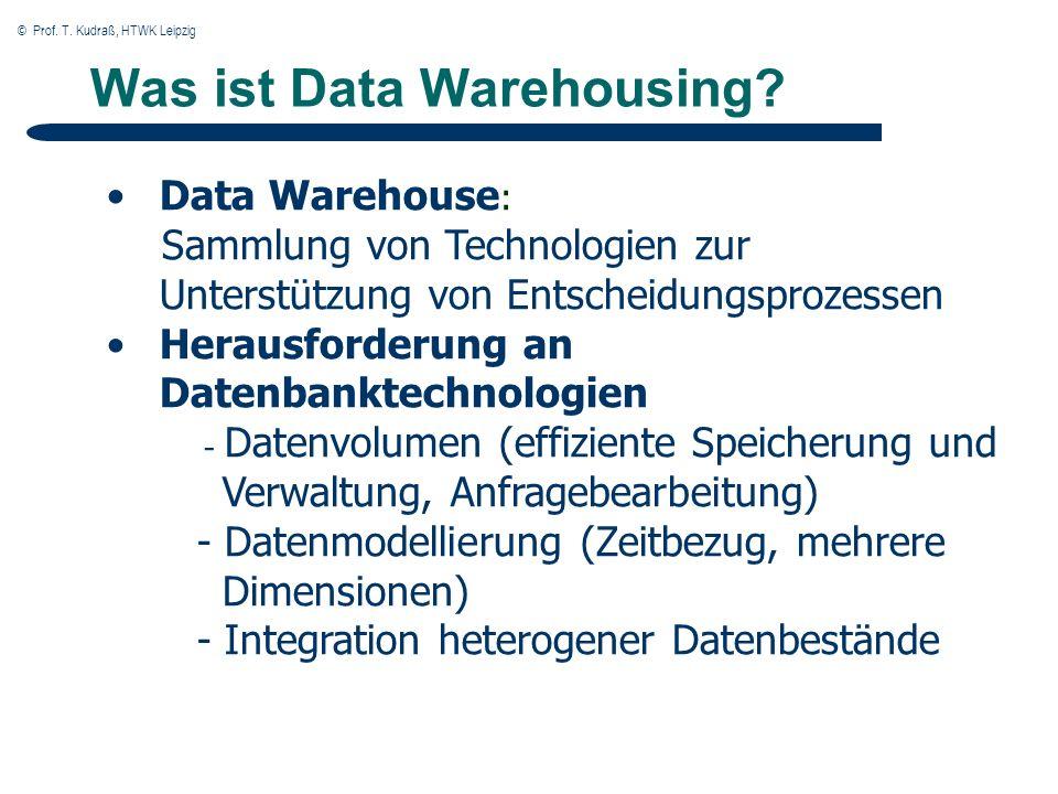 © Prof. T. Kudraß, HTWK Leipzig OLAP Einleitung DSS: Decision Support System