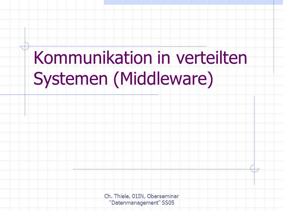 Ch.Thiele, 01IN, Oberseminar Datenmanagement SS05 2.