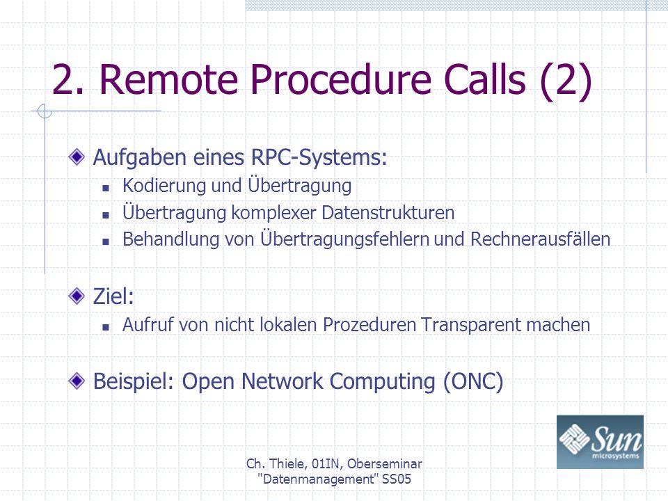Ch.Thiele, 01IN, Oberseminar Datenmanagement SS05 2.