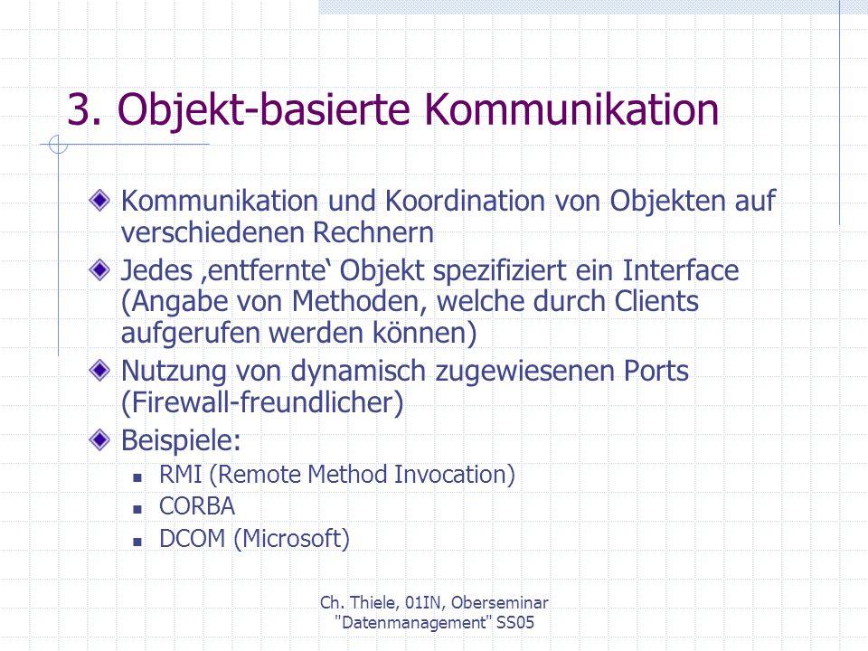 Ch.Thiele, 01IN, Oberseminar Datenmanagement SS05 3.