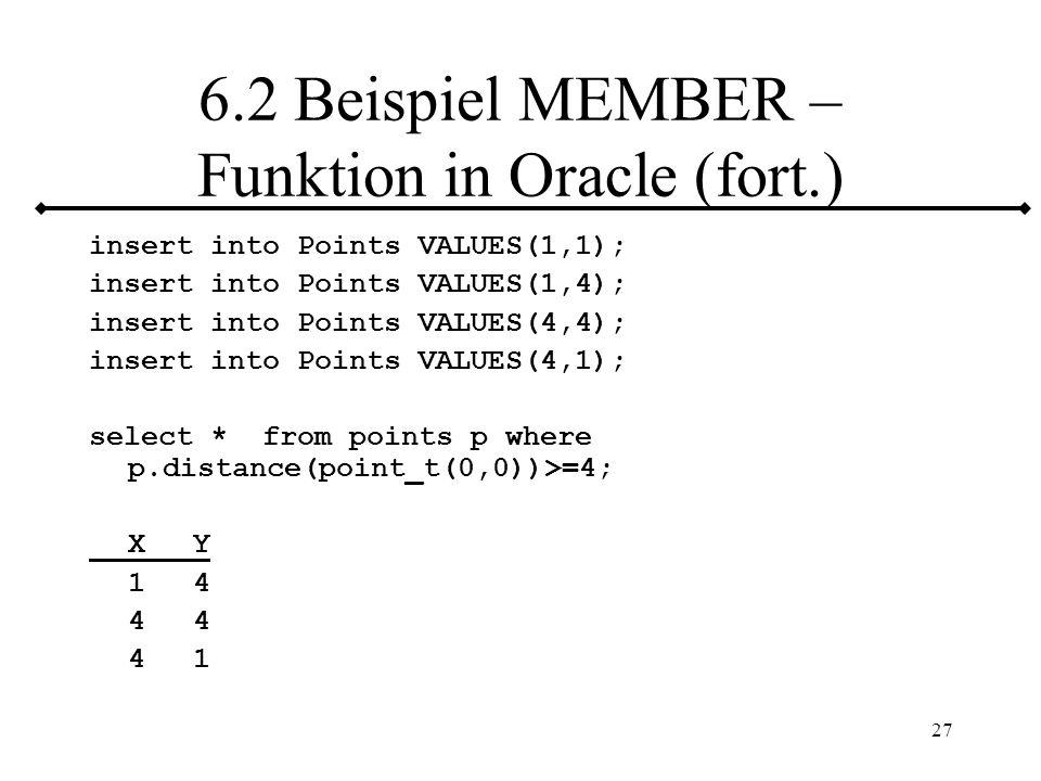 28 6.3 Vergleichsoperationen Formen: a)EQUALS ONLY Nur Test auf Gleichheit Ergebnistyp: Boolean (TRUE/FALSE) b)ORDER FULL Test auf Ergebnistyp: 0