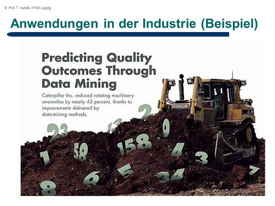 © Prof. T. Kudraß, HTWK Leipzig Anwendungen in der Industrie (Beispiel)