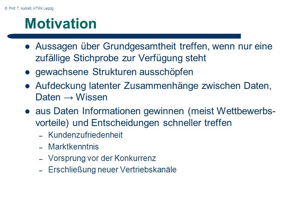 © Prof.T. Kudraß, HTWK Leipzig 7 Data Mining vs.