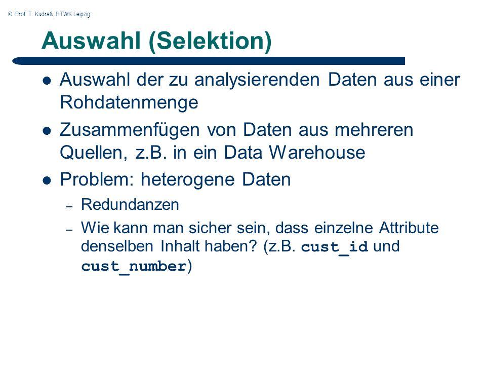 © Prof.T. Kudraß, HTWK Leipzig Vorverarbeitung (1) Warum Vorverarbeitung.
