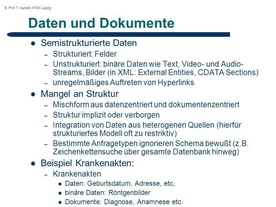 © Prof. T. Kudraß, HTWK Leipzig Grundprinzip der invertierten Liste
