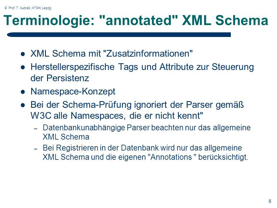 © Prof. T. Kudraß, HTWK Leipzig 8 8 Terminologie: