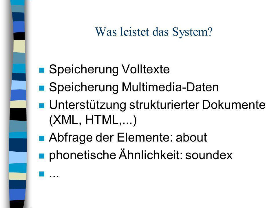 Was leistet das System.
