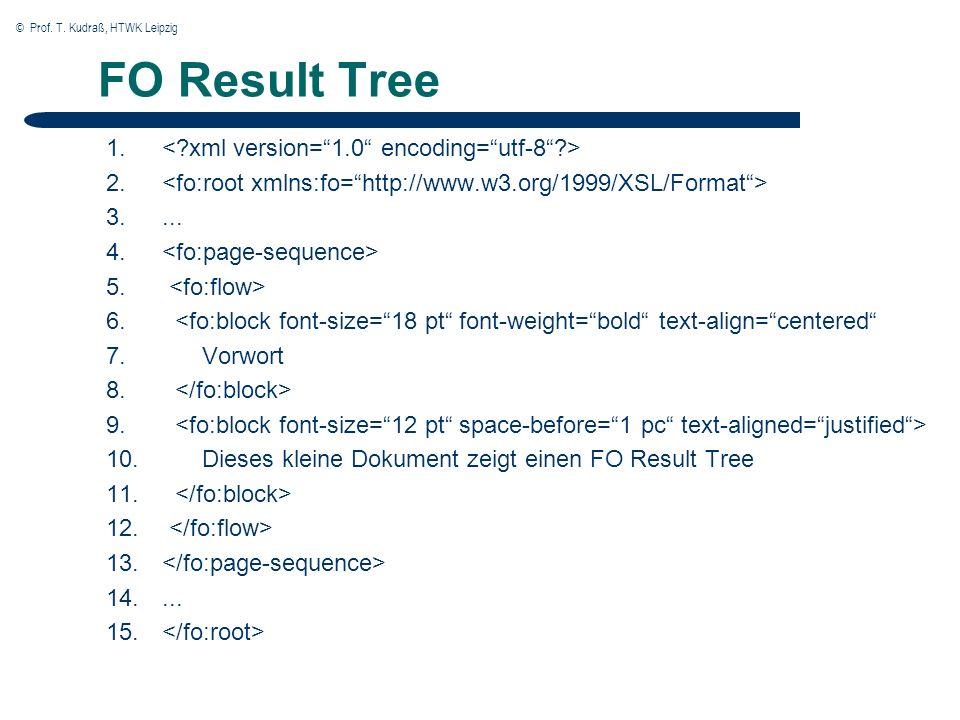 © Prof. T. Kudraß, HTWK Leipzig FO Result Tree 1.