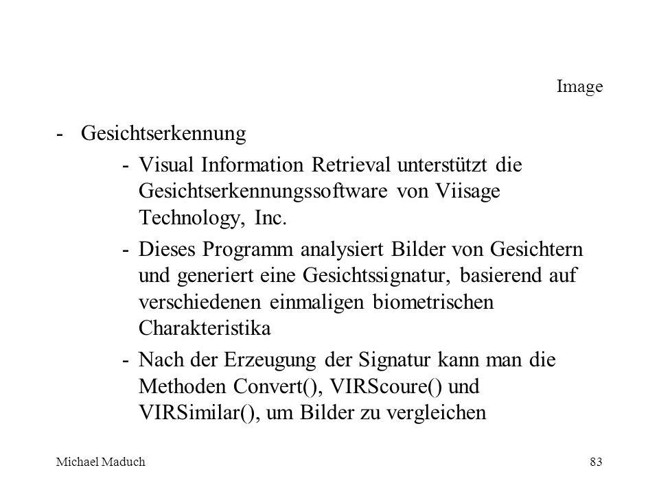 Michael Maduch83 Image -Gesichtserkennung -Visual Information Retrieval unterstützt die Gesichtserkennungssoftware von Viisage Technology, Inc.