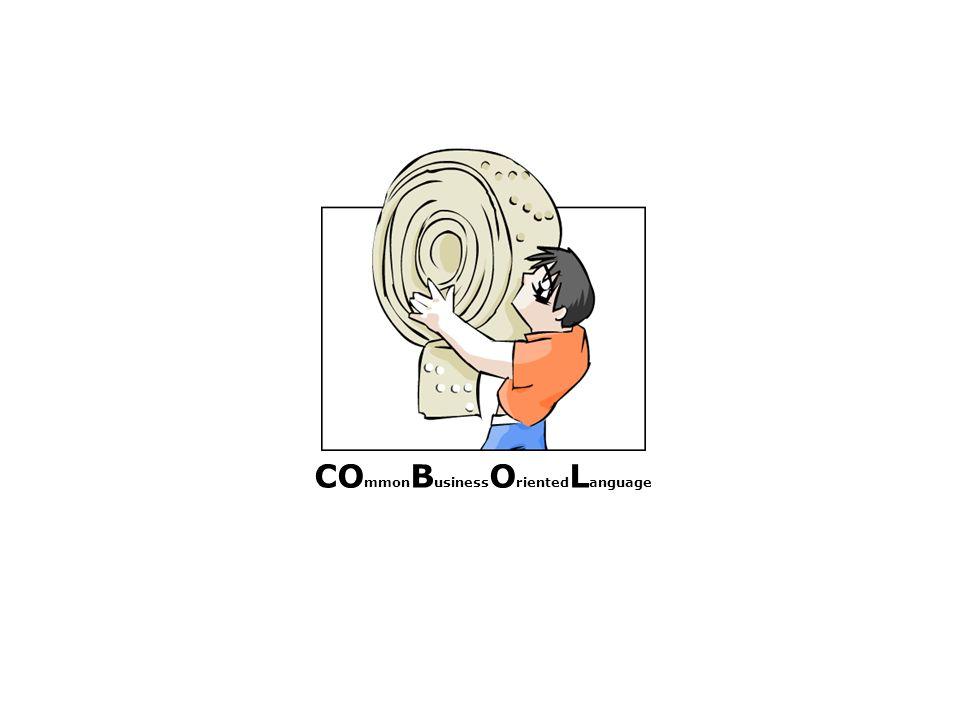 COBOL heute [1/3] eine der am weitesten verbreitete Programmiersprache (besonders für kommerzielle Zwecke) Haupteinsatzgebiet: betriebliche Datenverarbeitung an Stapelverarbeitung orientiert Schwerpunkt im Verarbeitungsteil von Programmen (bzgl.