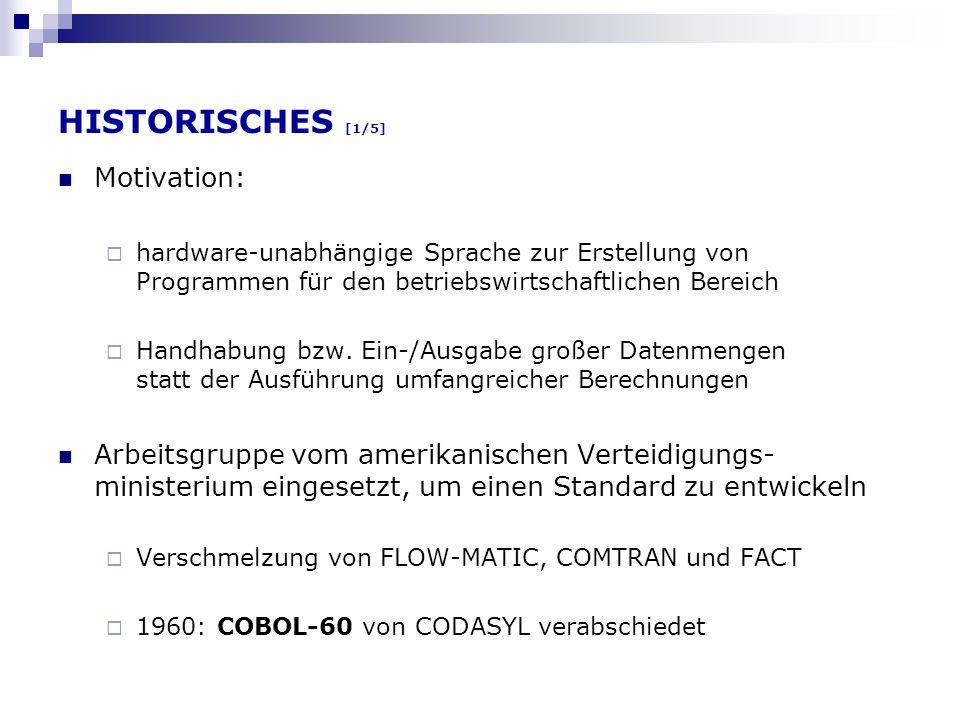 COBOL heute [3/3] nested program (Prozeduren mit lokalen Variablen) instrinsic functions (u.a.