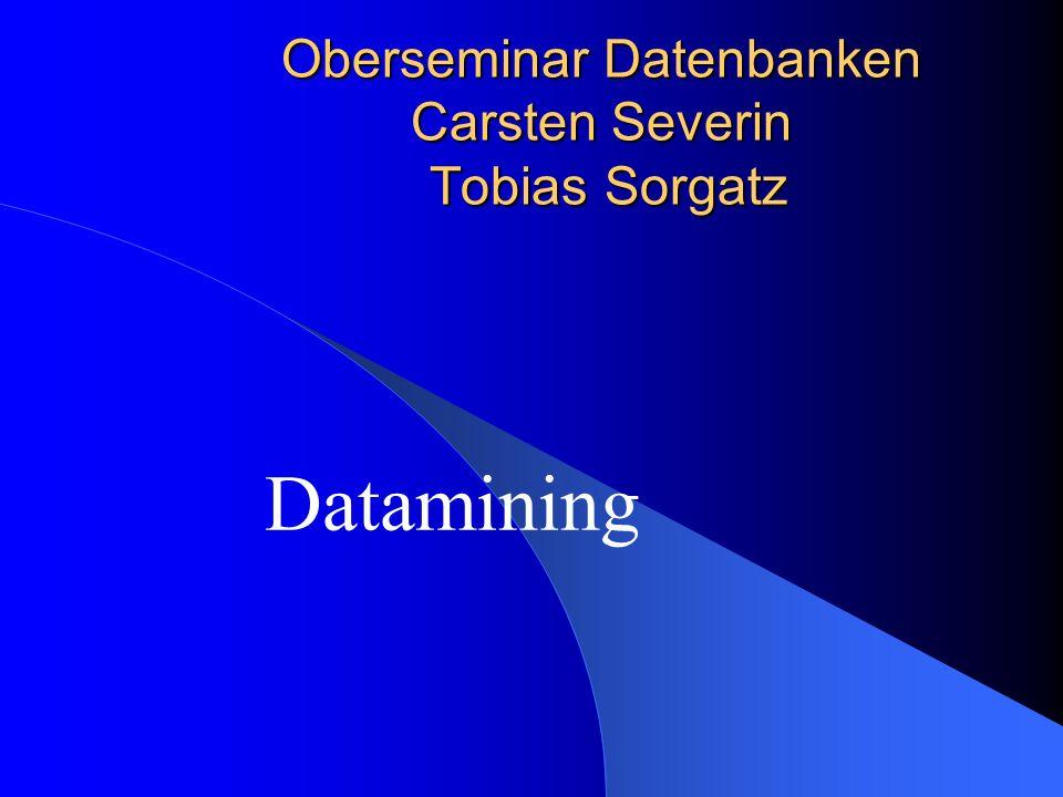 Oberseminar Datenbanken Carsten Severin Tobias Sorgatz Datamining