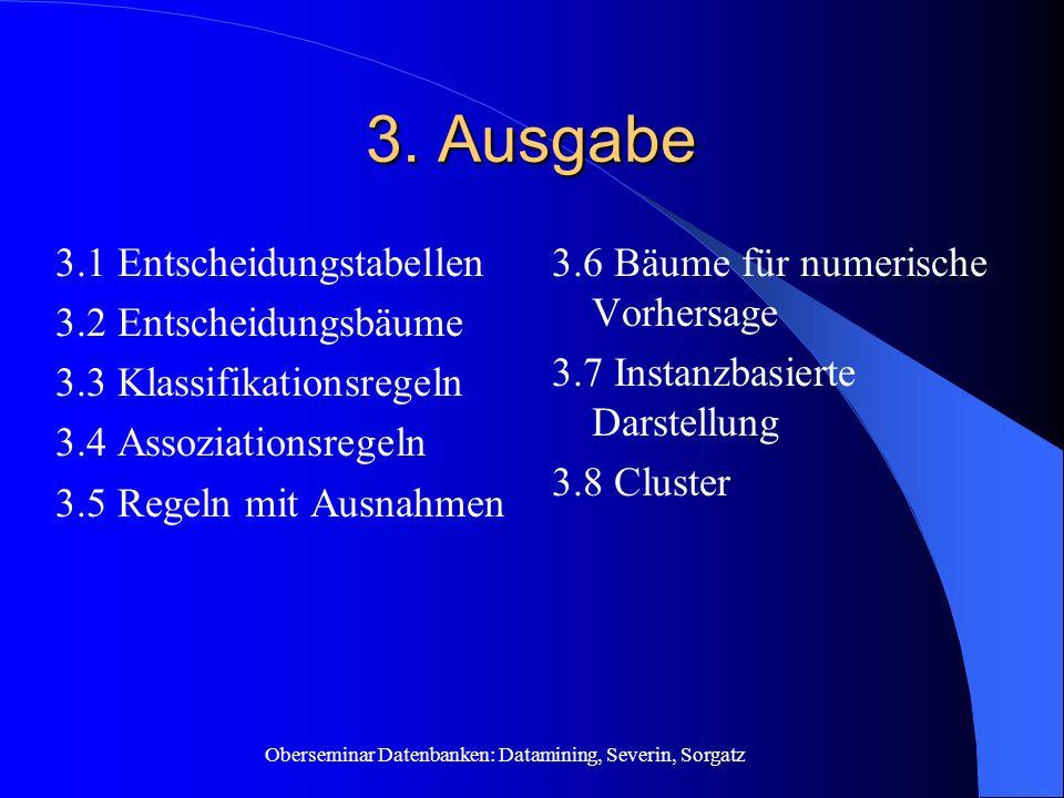 Oberseminar Datenbanken: Datamining, Severin, Sorgatz 3.