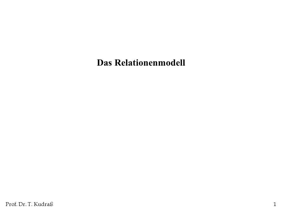 Prof. Dr. T. Kudraß1 Das Relationenmodell