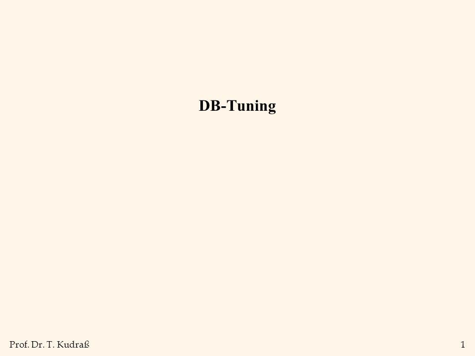 Prof. Dr. T. Kudraß1 DB-Tuning