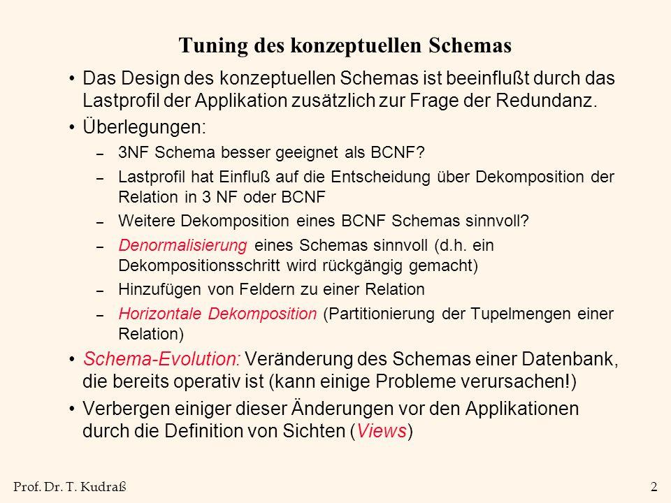 Prof.Dr. T. Kudraß3 Beispiel-Schema Beispiel Contracts, abgekürzt: CSJDPQV.