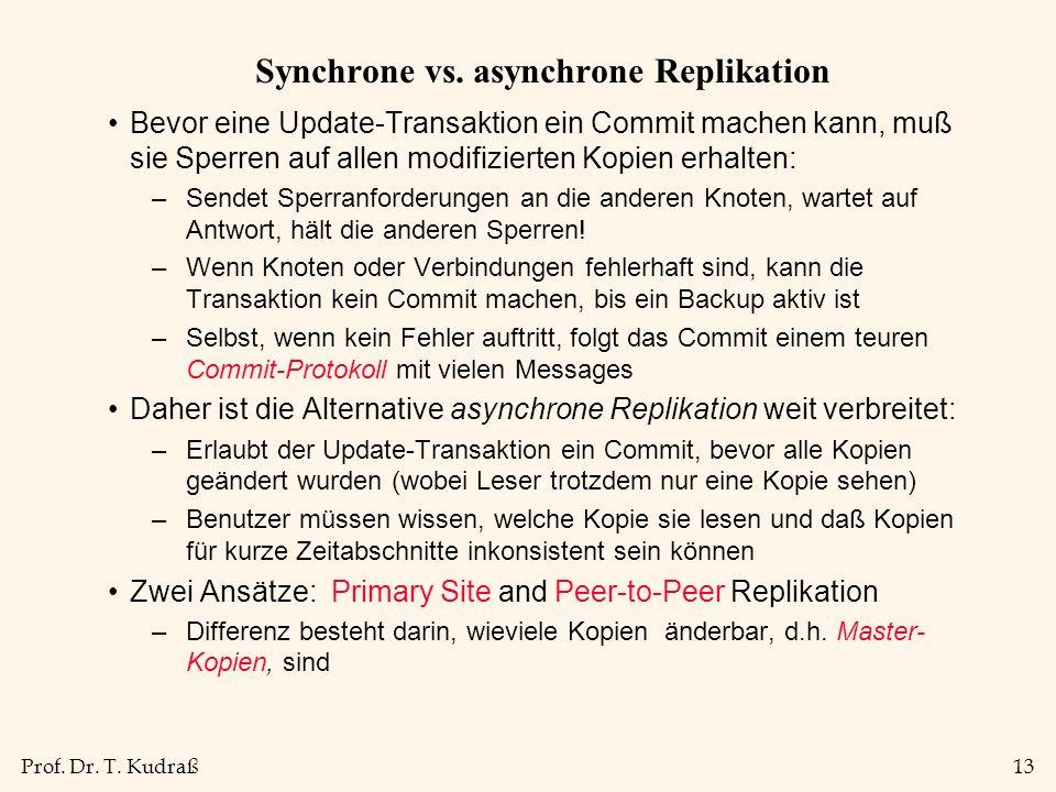 Prof. Dr. T. Kudraß13 Synchrone vs.