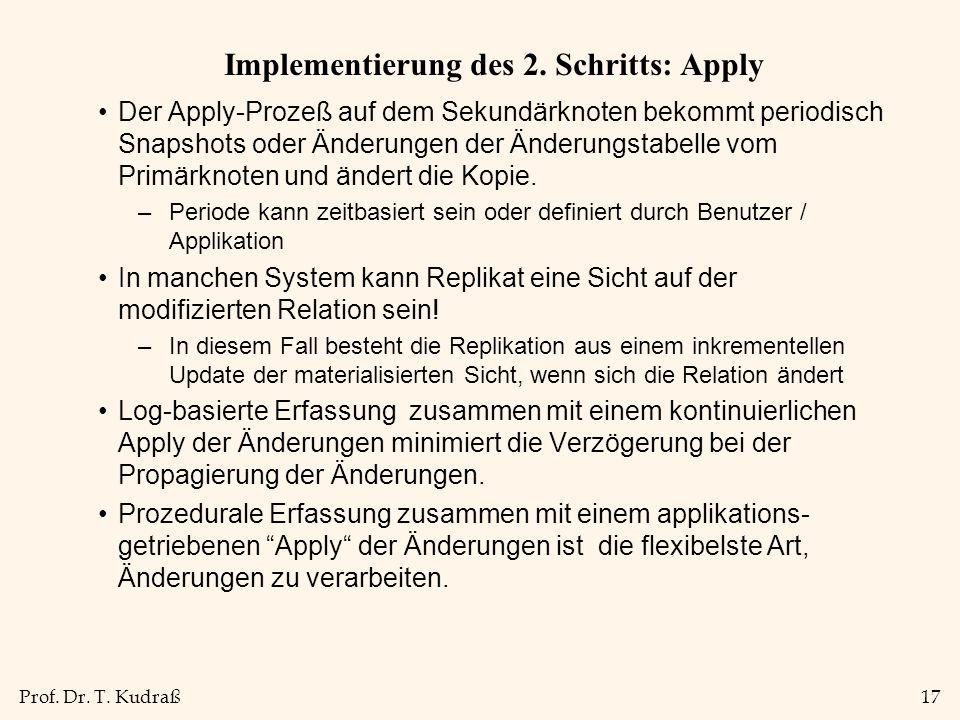 Prof. Dr. T. Kudraß17 Implementierung des 2.