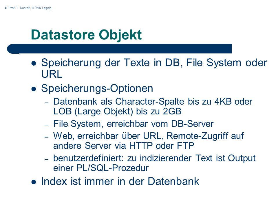 © Prof.T. Kudraß, HTWK Leipzig Filter Objekt Filter für mehr als 150 Dateiformate, z.B.