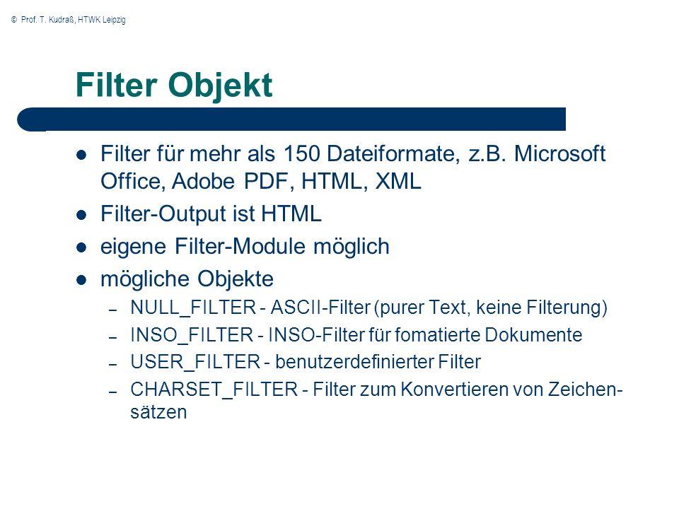 © Prof.T. Kudraß, HTWK Leipzig Arbeiten mit Oracle Text 1.