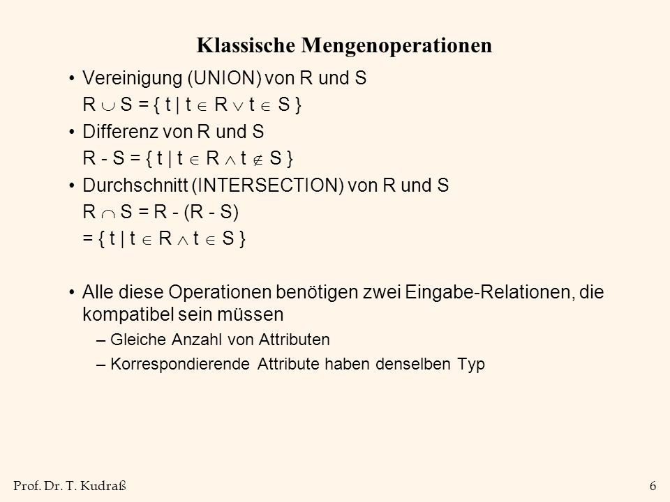 Prof. Dr. T. Kudraß17 Division A/B: Beispiele* A B1 B2 B3 A/B1A/B2A/B3