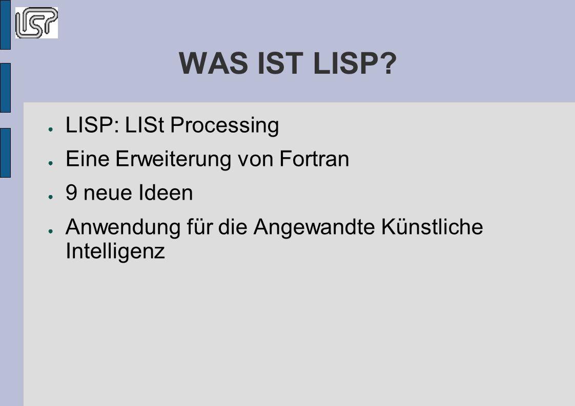 WAS IST LISP.