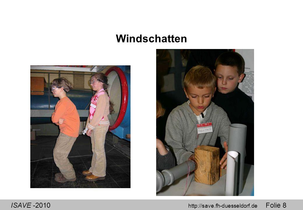 ISAVE -2010 http://save.fh-duesseldorf.de Folie 8 Windschatten