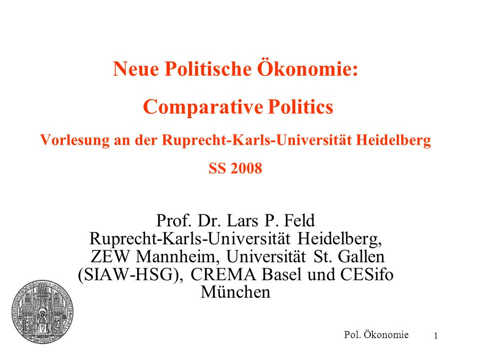 2 Comparative Politics Aufbau der Vorlesung Verhältnis- vs.