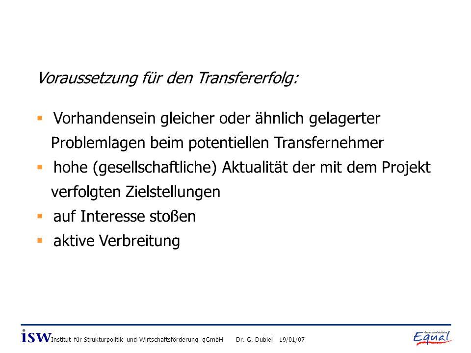 Institut für Strukturpolitik und Wirtschaftsförderung gGmbH Dr.