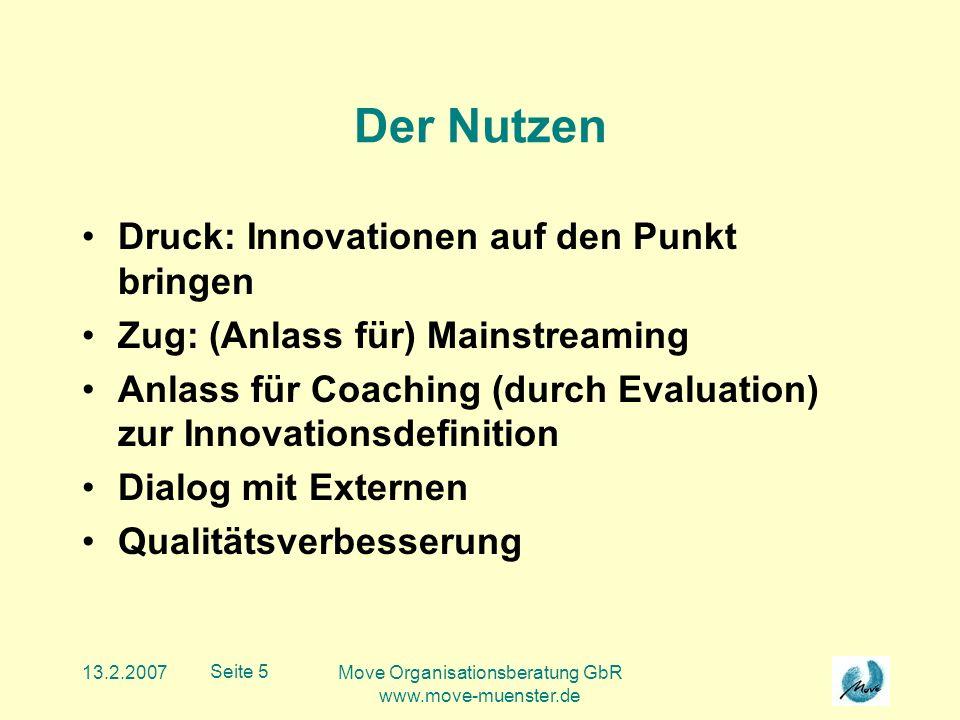 13.2.2007Move Organisationsberatung GbR www.move-muenster.de Seite 6 Was wird bewertet.