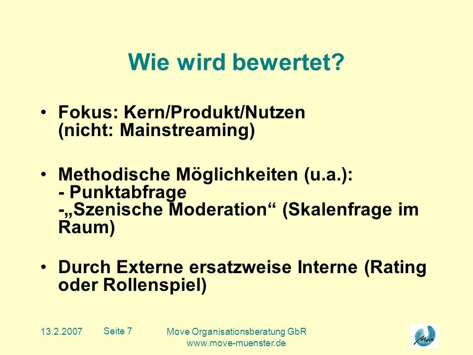 13.2.2007Move Organisationsberatung GbR www.move-muenster.de Seite 8 Anhand welcher Kriterien.