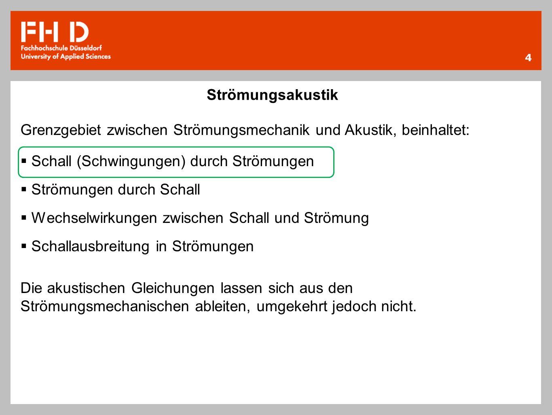 15 Quellenangabe -Lips, Walter: Strömungsakustik in Theorie und Praxis 2.