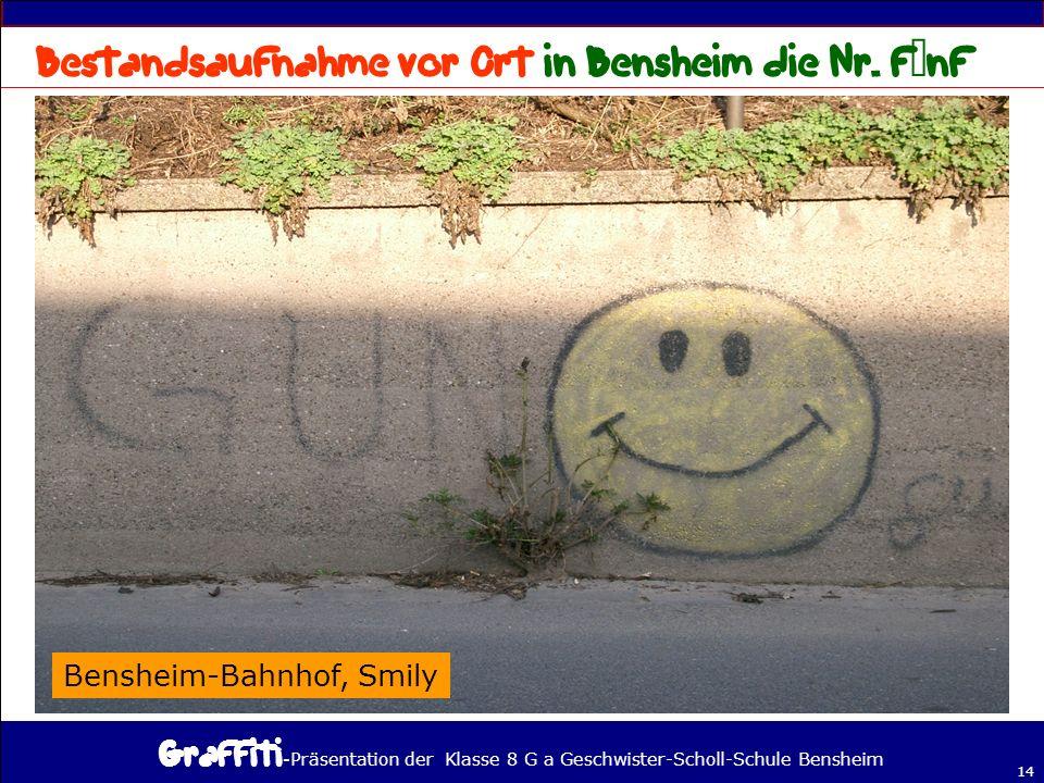 - Präsentation der Klasse 8 G a Geschwister-Scholl-Schule Bensheim 14 Bensheim-Bahnhof, Smily