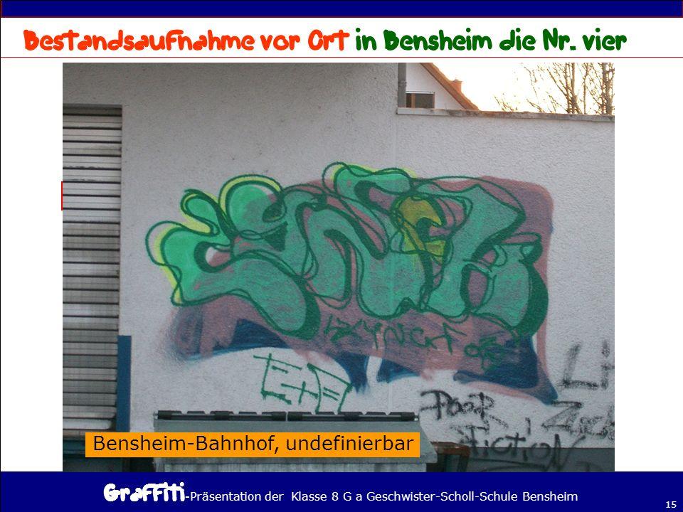 - Präsentation der Klasse 8 G a Geschwister-Scholl-Schule Bensheim 15 Bensheim-Bahnhof, undefinierbar