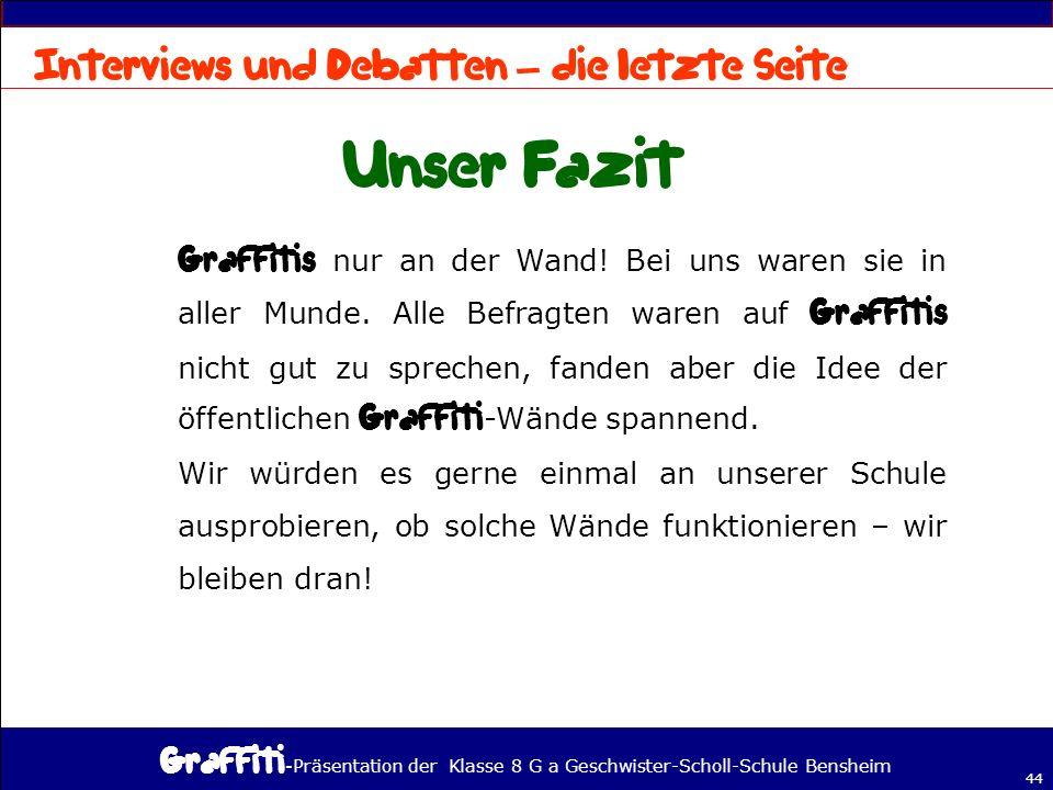 - Präsentation der Klasse 8 G a Geschwister-Scholl-Schule Bensheim 44 – nur an der Wand.