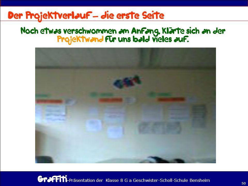 - Präsentation der Klasse 8 G a Geschwister-Scholl-Schule Bensheim 50 –