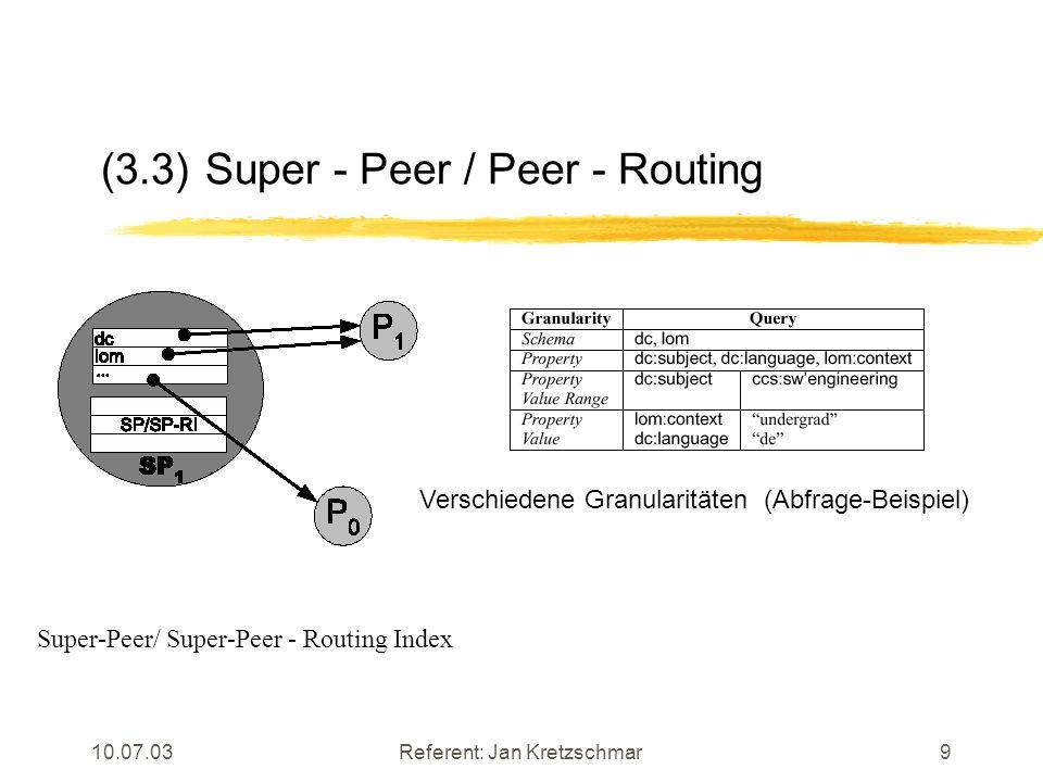 10.07.03Referent: Jan Kretzschmar10 (3.4)Eine Beispiel - Abfrage (I)