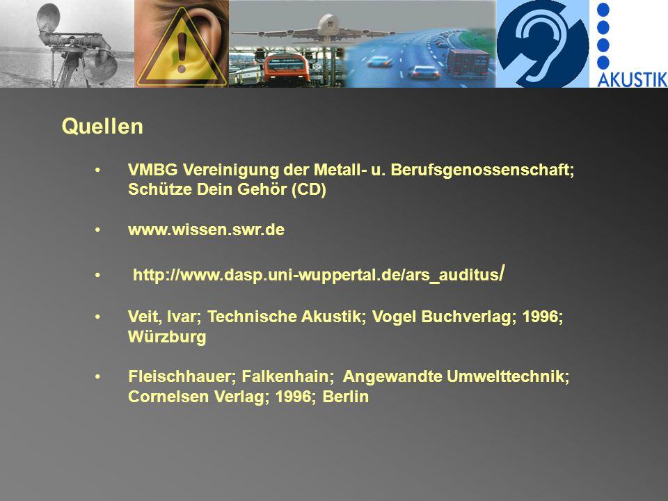 Quellen VMBG Vereinigung der Metall- u.